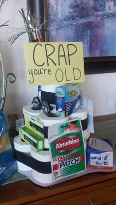 Ideas About Gag Gifts Birthday Jpg 236x418 Funny 40th Pranks