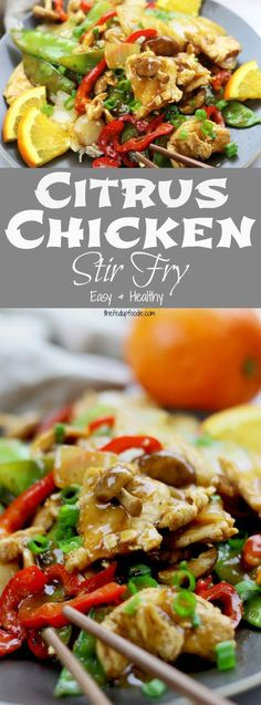 Bright and flavorful, this Citrus Chicken Stir Fry recipe is perfect for an easy and healthy dinner at home. Made with clean ingredients this is one of the best healthy decadent meals!  https://www.thefedupfoodie.com