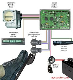 electronic throttle control system inputs and outputs Engine Repair, Car Engine, Mécanicien Automobile, Car Ecu, Earth Moving Equipment, Electrical Circuit Diagram, Electronic Circuit Projects, Electronics Basics, Electronic Schematics