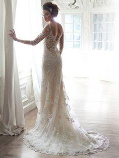 Häät Maggie Sottero pitsinen hääpuku wedding dresses