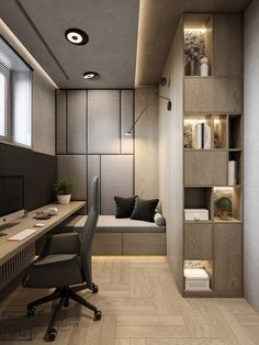 Trendy Home Office Contemporary Study Rooms Home Office Setup, Home Office Space, Home Office Design, Home Interior Design, Interior Architecture, House Design, Office Ideas, Studio Interior, Studio Design