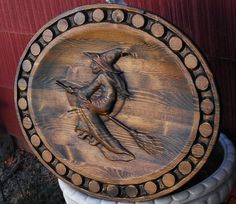 Witch Wood Carving on Etsy, $82.00