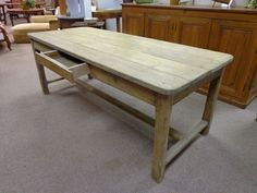 19th Century French Antique Pine Farm Table Circa 1800