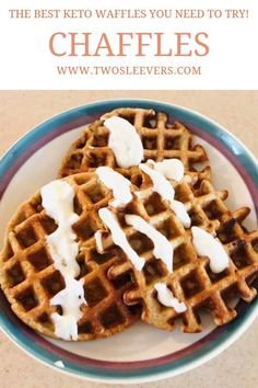 Sounds weird, but tastes delicious! They're the easiest, quickest, and most delicious keto or low carb waffle you will ever make! Low Carb Waffles, Savory Waffles, Savoury Cake, Keto Waffle, Waffle Recipes, Waffle Iron, Pancake Recipes, Crepe Recipes, Low Carb Keto