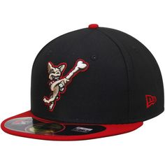 El Paso Chihauhuas New Era Authentic 59FIFTY Fitted Hat - Black/Red