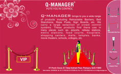 Exclusive Queue Management by Q-manager. Customize rope & Belt Colors with Logo/massage Printing.