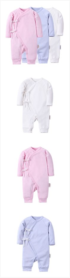 Cute Newborn Baby 0-3 Months Cotton Clothes Rompers Unisex Long Sleeve