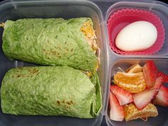 chicken and cheese wrap in spinach tortilla