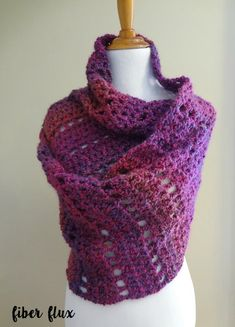 The Mulberry Shawl is a beautiful, lofty and super soft shawl that will keep you extra toasty this season. The shawl is like having a fabu. All Free Crochet, Love Crochet, Diy Crochet, Crochet Crafts, Crochet Ideas, Crochet Things, Crochet Projects, Crochet Shawls And Wraps, Crochet Scarves