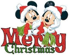 mickey and minnie merry christmas - Merry Christmas Mickey Mouse