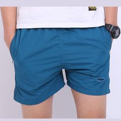 New Arrival Men Basic Beach Short Pants Fashion Shorts Elastic Waist Mid Loose Knee Length Fitness Men's Pants High Quality