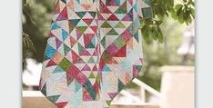 A Gorgeous Quilt for Showing off Batiks or Another Favorite Fabric Line! A complex-looking arrangement of triangles creates the overall design of this beautiful quilt. While it looks difficult, it's actually quite simple to make. We love the batik fabrics chosen by designer Pam Goggans. Create your own unique look by choosing your favorite fabrics. …
