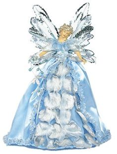 Angel Christmas tree toppers are some of the most popular types of tree toppers, and they have been for years. Xmas Tree Toppers, Angel Christmas Tree Topper, Angel Ornaments, Christmas Angels, Ghost Of Christmas Past, Christmas Tree Tops, Blue Christmas, Unique Christmas Decorations, Handmade Angels