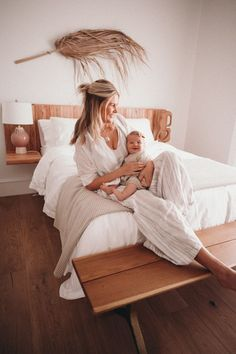 Our Guest Room - Barefoot Blonde by Amber Fillerup Clark So excited to share our guest room with you. It's a simple and cozy little room. Here are a few photos I took with little Frankie. Amber Fillerup Clark, Guest Room Decor, Wall Decor, Barefoot Blonde, Above Bed, Future Mom, Home Decor Fabric, Bedroom Inspo, Mommy And Me