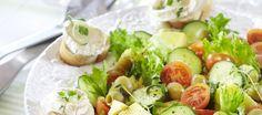Ranskalainen vuohenjuusto-perunasalaatti | Pääruoat | Reseptit – K-Ruoka