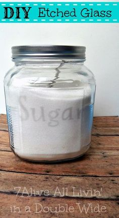 how to etch glass, crafts, home decor, Etch glass to make a custom sugar and flour jars