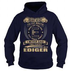 I Love EDIGER Last Name, Surname Tshirt T shirts