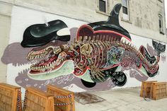 street art by Nychos in new york city usa - most popular murals of 2013