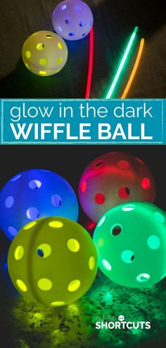 Field Day Games For Kids Discover Glow In the Dark Wiffle Ball - Summer Fun - A Few Shortcuts Looking for some Summer fun for a party or just because? Check out this fun Glow in the Dark Wiffle Ball idea! Takes only minutes to set up! Wiffle Ball, Games For Teens, Activities For Kids, Crafts For Kids, Spring Activities, Physical Activities, Batman Party, Glow Party, Glow In Dark Party