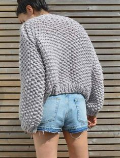 00a3a5f9af1d Chunky Knitting Pattern - Oversized Knit Jumper Digital Download