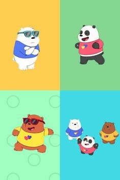 Osos Cartoon Network, We Bare Bears Wallpapers, We Bear, Bear Pictures, Bear Wallpaper, Baymax, Cute Bears, Wall Collage, Polar Bear
