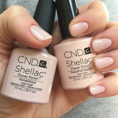 CND Shellac // Romantique with a layer of Grapefruit Sparkle.