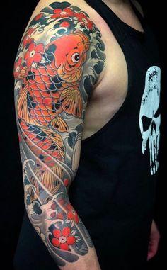 Carp tattoo, koi fish tattoo, fish tattoos, japanese tattoo art, japanese s Koi Tattoo Sleeve, Ink Tattoo, Japanese Sleeve Tattoos, Full Sleeve Tattoos, Tattoo Sleeve Designs, Tattoo Designs Men, Body Art Tattoos, Tribal Tattoos, Tattoo Fish