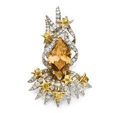 La broche Comète de Jean Schlumberger chez Artcurial Monaco 2014. Un diamant cognac de 20 carats placé en orbite dans les années 70 sur un bijou précieux, à découvrir début juillet lors de la vente Artcurial à Monaco.