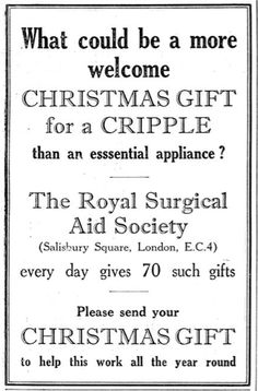 The Royal Surgical Aid Society. 23 December, 1938