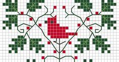 Bebi Tündérországa: Karácsonyi keresztszemes minták Cross Stitching, Bookmarks, Knitting, Crochet, Fiber, Decor Ideas, Tricot, Marque Page, Breien