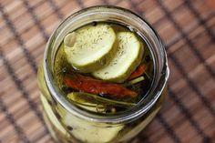 Simple Refrigerator Garlic Dill Pickles {via Bldg. 25 Blog}
