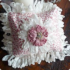 love this little pink floral pillow