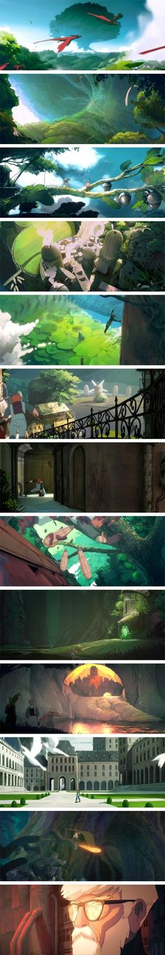 Celles et Ceux des Cimes et Cieux, beautifylanimation by Gwenn Germain, inspired by Hayao Miyazaki