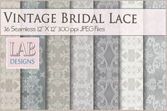 36 Vintage Bridal Lace Textures by Lab Designs on @creativemarket