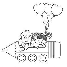 Coloriage C'est La Rentrée Des Classes Coloriages Rentrée Des Classes Des Enfants Et Des Ballons Beau Fall Coloring Pages, Alphabet Coloring Pages, Coloring Pages For Kids, Coloring Books, Drawing School, Drawing For Kids, Art For Kids, Crafts For Kids, School Board Decoration