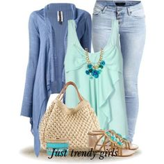 bow top with denim Early spring outfits http://www.justtrendygirls.com/early-spring-outfits/