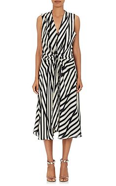 We Adore: The Claire Striped Silk Charmeuse Wrap Dress from Azeeza at Barneys New York