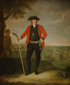 William Inglis (c.1712–1792), Surgeon and Captain of the Honourable Company of Edinburgh Golfers by David Allan National Galleries of Scotland ~ 1787