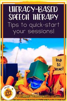 Dig into literacy-based speech therapy and communicative reading strategies here! Check out some quick and helpful tips for using books in speech therapy.