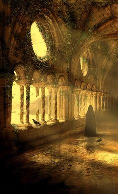 Ce paysage de château féroce et abandonné transmet parfaitement l'univers des Pèlerins d'Yssel. Une saga fantastique dans la veine du Seigneur des Anneaux et de Game of Thrones.