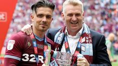 Aston Villa are promoted to the Premier League after beating Derby County 2-1 in the Championship play-off final at Wembley. Martyn Waghorn, Bradley Johnson, Pride Park, Aston Villa Fc, Sky Go, Jack Grealish, Man Of The Match, Friends
