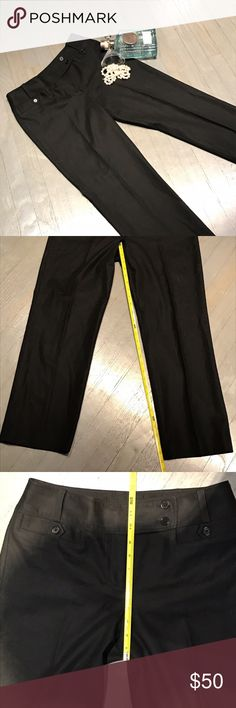 Ann Taylor Black 2 Crossover Button Trouser Pants Ann Taylor Black 2 Crossover Button Trouser Pants. Measurements posted in pictures. Ann Taylor Pants Straight Leg