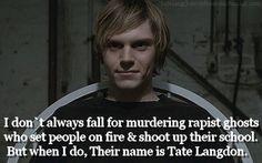 American Horror Story, Tate Langdon, woo! Love him.