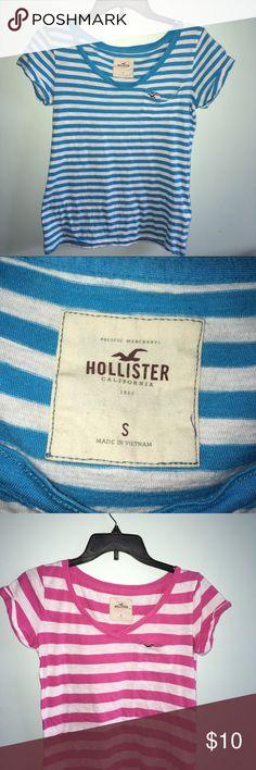 Hollister Striped shirts T-Shirts V-Neck Hollister Tops Tees - Short Sleeve