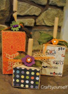 Square Wood Pumpkins
