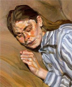 Girl in Striped Nightshirt - Lucian Freud  ~ Celia Paul?