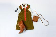 60s mini dress SLEEVELESS petite XS brown retro by RedLuckVintage