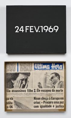 "#ART | On Kawara | Today Series ""24 Fev. 1969"""