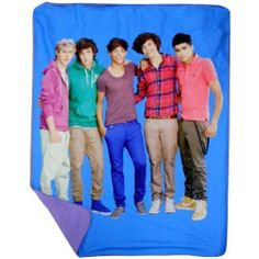 One Direction Blue Portrait Throw For Directioners. This officially licensed blue blanket is very soft and a great size for sharing or curling up in all by yourself.