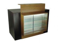 The Beatrix Reception Desk in solid Brown